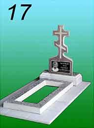 Памятник из гранитной крошки 17