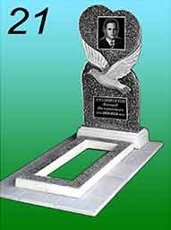Памятник из гранитной крошки 21